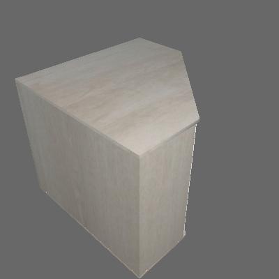Armário Canto Diagonal 760mm 2 Portas (613)