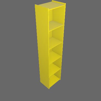 Estante Biblioteca Hamsa Amarelo - Movelbento