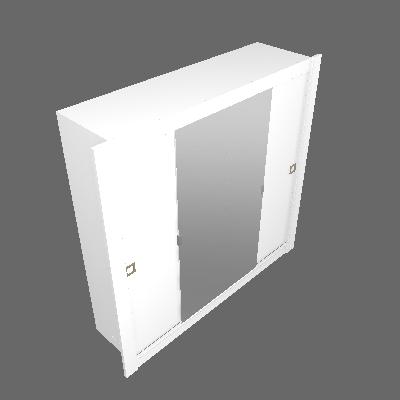 Guarda-Roupa Casal com Espelho Bastos 4 PT 4 GV Branco