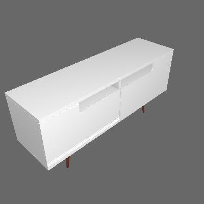 Rack Isadora Branco 157 cm - Artesano