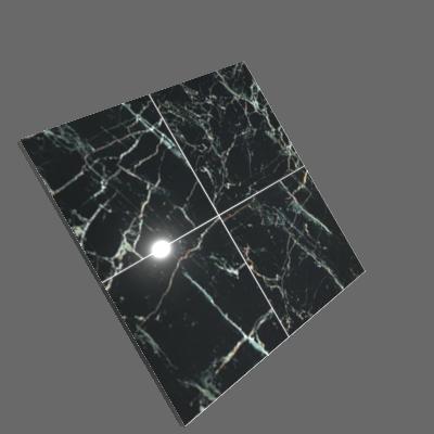 Porcelanato Interno Mármore Esmaltado Polido Borda Reta 60x60cm Marble Black Artens (89248502)