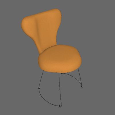 Cadeira Jacobsen Meia Lua Linho Amarelo - Daf