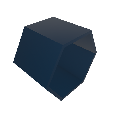 Nicho Hexagonal Favo Azul Noite - Máxima Móveis