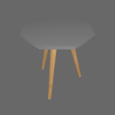 Mesa Lateral Octogonal Argos Cinza - Ornament