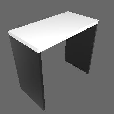 Mesa para Notebook Natus Preta e Branca 80 cm