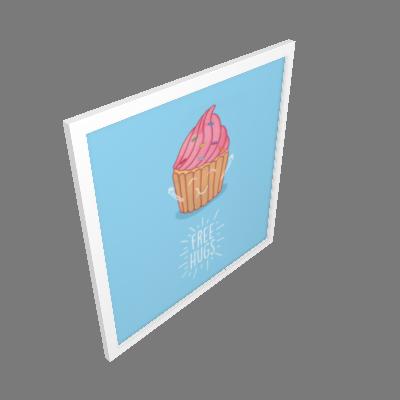 Quadro Cupcake Pequeno (3245BAH)