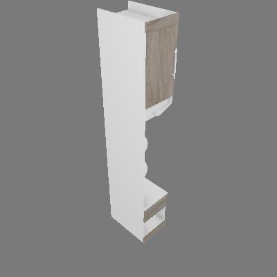 Módulo Supreme Criado com 03 Prateleiras 35cm