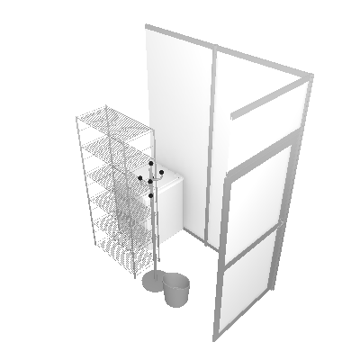 Pack Réserve 2m² :  Mobilier + Réserve (PACK-R2M²-MDR)