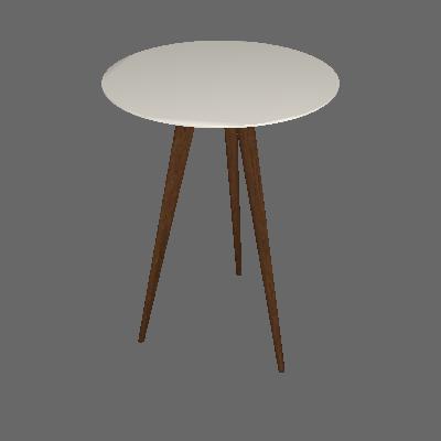 Conjunto com 2 Mesas Laterais Redondas Lunis Off White - Edn Móveis
