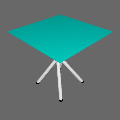 Mesa de Cozinha Quadrada com Tampo de Vidro Messina Incolor e Cromado - Pozza