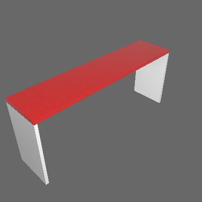 Mesa para Notebook Natus Branca e Vermelha 180 cm