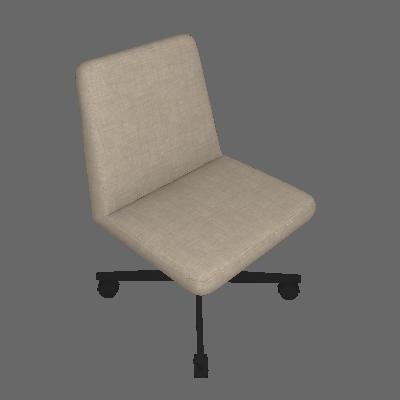Cadeira de Escritório Interlocutor Office Estofada Bege - Daf