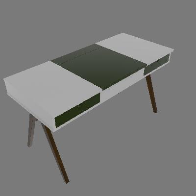 Escrivaninha Delacroix Nogal e Verde Musgo - Maxima