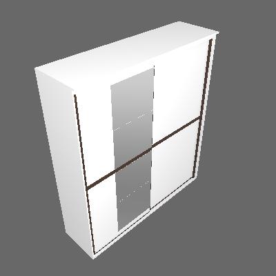 Guarda-Roupa Casal Sofisticato com Espelho 2 PT 6 GV Branco - Belmax