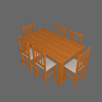 Conjunto de Mesa com 6 Cadeiras Leon Suede Canela - Zamarchi