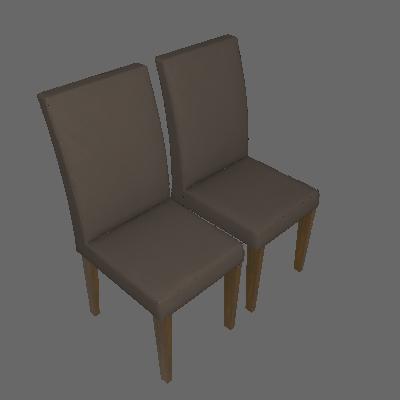 Conjunto de 2 Cadeiras Olímpia Canela Capuccino - Leifer