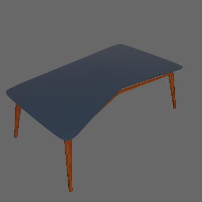Mesa de Centro M Cacau e Azul Marinho - Maxima