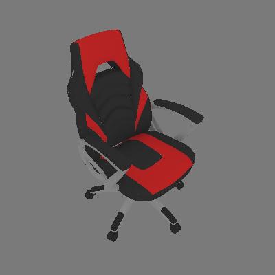 Cadeira de Escritório Gamer Presidente Jinx Preta e Vermelha - Mobly