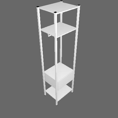 Guarda-Roupa Closet Modulado Oxford 1 GV Branco - Artefamol