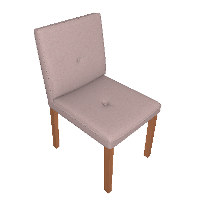 Conjunto com 2 Cadeiras de Jantar Mazy Cinza e Castanho - Legnoart