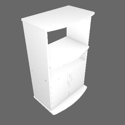 Balcão Para Microondas MF100 Branco - Multivisão