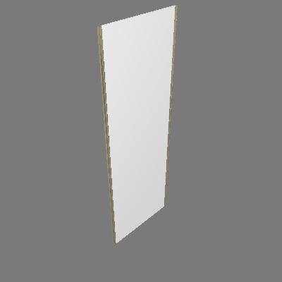 Porta de Correr 80cm Branca Prime Luciane (89596094)