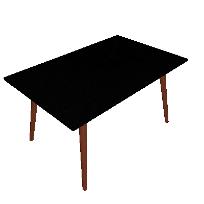 Mesa de Jantar Retangular Yasmin Preta e Marrom Escuro 140 cm - Artesano