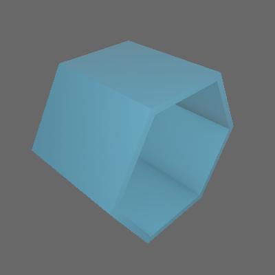 Nicho Hexagonal Favo Azul Serenata - Máxima Móveis