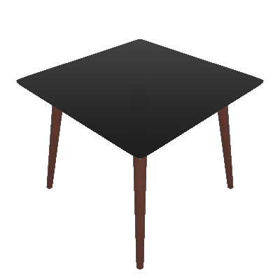Mesa de Jantar Quadrada Fernanda Preta e Marrom Escuro 90 cm - Artesano