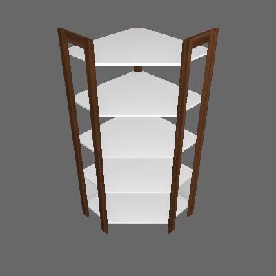 Estante Bambuí Nogal e Branca - Tecno Mobili