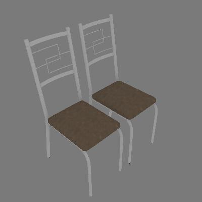 Conjunto com 2 Cadeiras Cerise I Marrom - Carraro