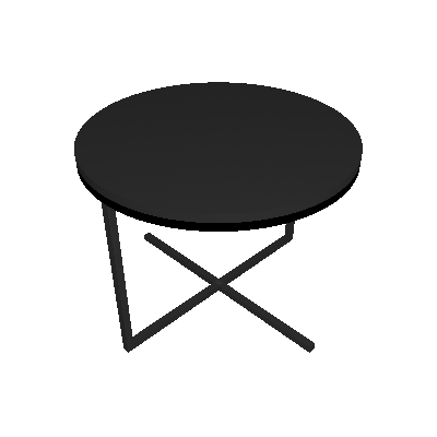 Mesa de Centro Redonda Complementos Preta - Artesano