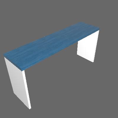 Mesa para Notebook Natus Branca e Azul 160 cm