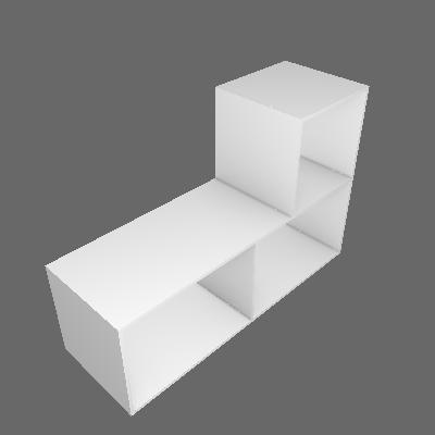 Estante Modular 0.9 Branco Multivisão