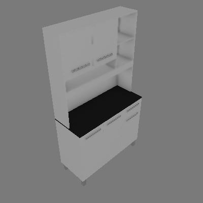 Cozinha Compacta Amestista 5 PT 1 GV Branco - Valdemóveis
