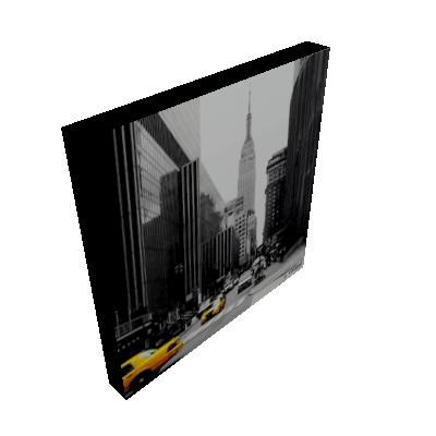 Quadro Impressão Digital Nova York Preto e Branco 30x30cm Uniart - Uniart