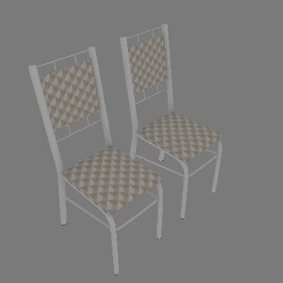 Conjunto com 2 Cadeiras Ney Bege - Carraro