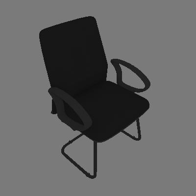 Cadeira de Escritório Fixa Tela Suede Preta|Preta - Absolut