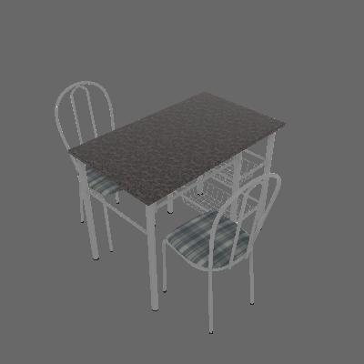 Conjunto de Mesa com 2 Cadeiras Alice Linho - Artefamol