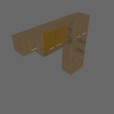 Cozinha Compacta Sanders 7 PT Argila e Amarelo