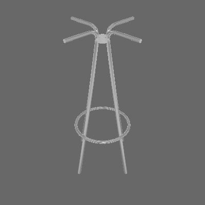 Base para Mesa Bistrô Redonda Bréscia Cromado 49 cm - Pozza