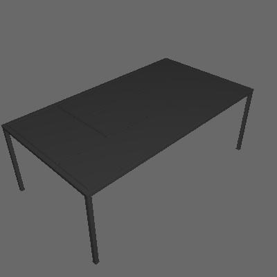 Mesa de Centro Retangular Fragmento Preta - Mobly