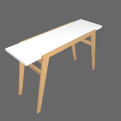 Escrivaninha Orly Branca - BRV Móveis