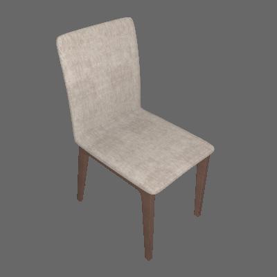 Conjunto com 2 Cadeiras Marina Avelã e Palha - Brigatto