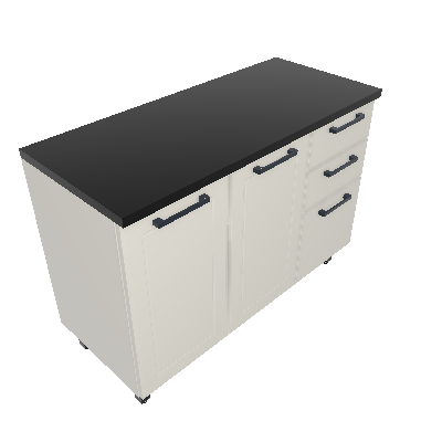 Gabinete 03 Portas 02 Gavetas (GM120-3P-2G)