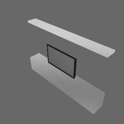 RACK COM PRATELEIRA LOURO FREIJO 35.5x244x159cm