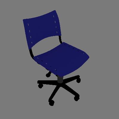 Cadeira de Escritório Evidence I Giratória Azul - Absolut