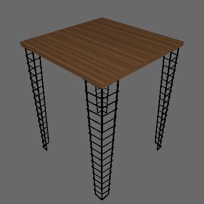 Mesa Lateral Quadrada Riven Preta e Castanho - Metaltru