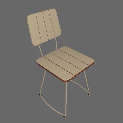 Cadeira Costela Meia Lua Fendi - Daf