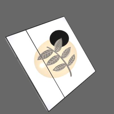 Conjunto 3 Quadros Círculos e Linhas + Flâmula Rua Lá Fora + E-Book 50x70 02